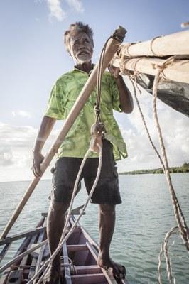 Fischer auf Boot