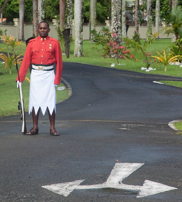 Guard in front of the Presidential Palace