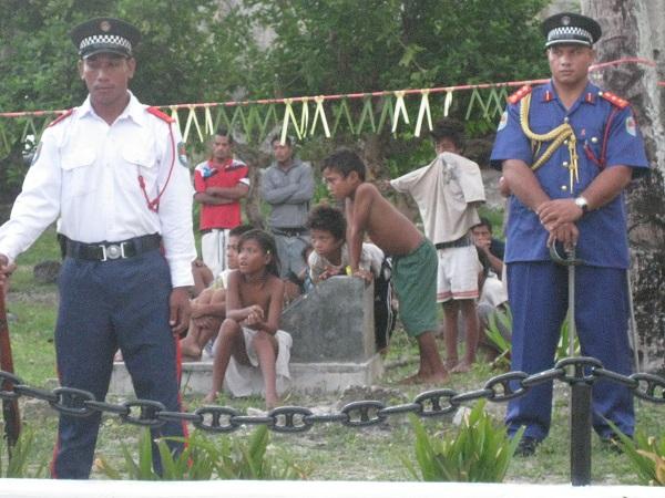 Kiribati Military on ANZAC Day